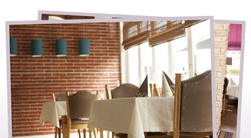 Restaurant bei ante hohe loga in leer